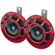 Hella Red Grill Super Loud Super Tone Horn Set by 1-Klik (Set)