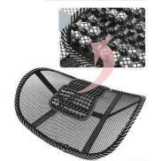 Back Rest Comfortable Mesh Ventilate Car Seat Office Chair Massage Back Lumbar Support Pack OF 2 (Assorted Designs)