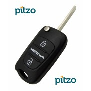 Hyundai Verna Car Key Shell for 3 Button Remote Flip