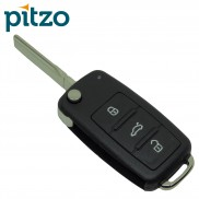 Skoda Flip Car Key Shell for 3 Button Remote