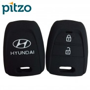 Car Silicone Key Coverr for 2 Button Remote Key Shell Body Case for Hyundai (i10 Grand)