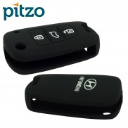 Car Silicone Key Cover for 3 Button Remote Flip Key Shell Body Case for Hyundai i20 Old
