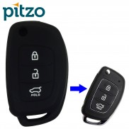 Car Silicone Key Cover for 3 Button Remote Flip Key Shell Body Case for Hyundai