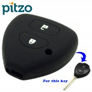 Car Silicone Key Cover for 2 Button Remote Key Shell Body Case for Toyota