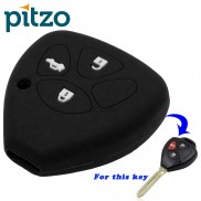 Car Silicone Key Cover for 3 Button Remote Key Shell Body Case for Toyota