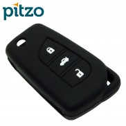 Car Silicone Key Cover for 3 Button Remote Flip Key Shell Body Case for Toyota