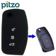 Car Silicone Key Cover for 3 Button Remote Flip Key Shell for Ford Ecosports , Fiesta
