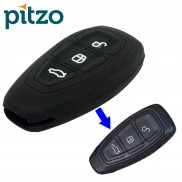 Car Silicone Key Cover for 3 Button Remote Smart Key Shell Body Case for Ford Ecosports