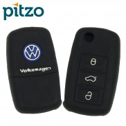 Car Silicone Key Cover for 3 Button Remote Flip Key Shell for Volkswagen