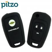 Car Silicone Key Cover for 3 Button Remote Flip Key Shell Body Case for Chevrolet Cruze