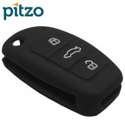 Car Silicone Rubber Key Cover for Audi (Black)