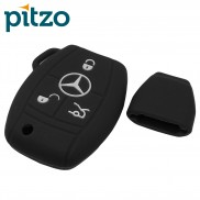 Car Silicone Key Cover without Chain for 3 Button Remote Smart Key Shell Body Case for Mercedes Benz