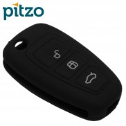 Car Silicone Rubber Key Cover for Ford Ecosports (Black)