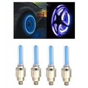 Blue Car Tyre LED Light With Motion Sensor Set for Universal Cars